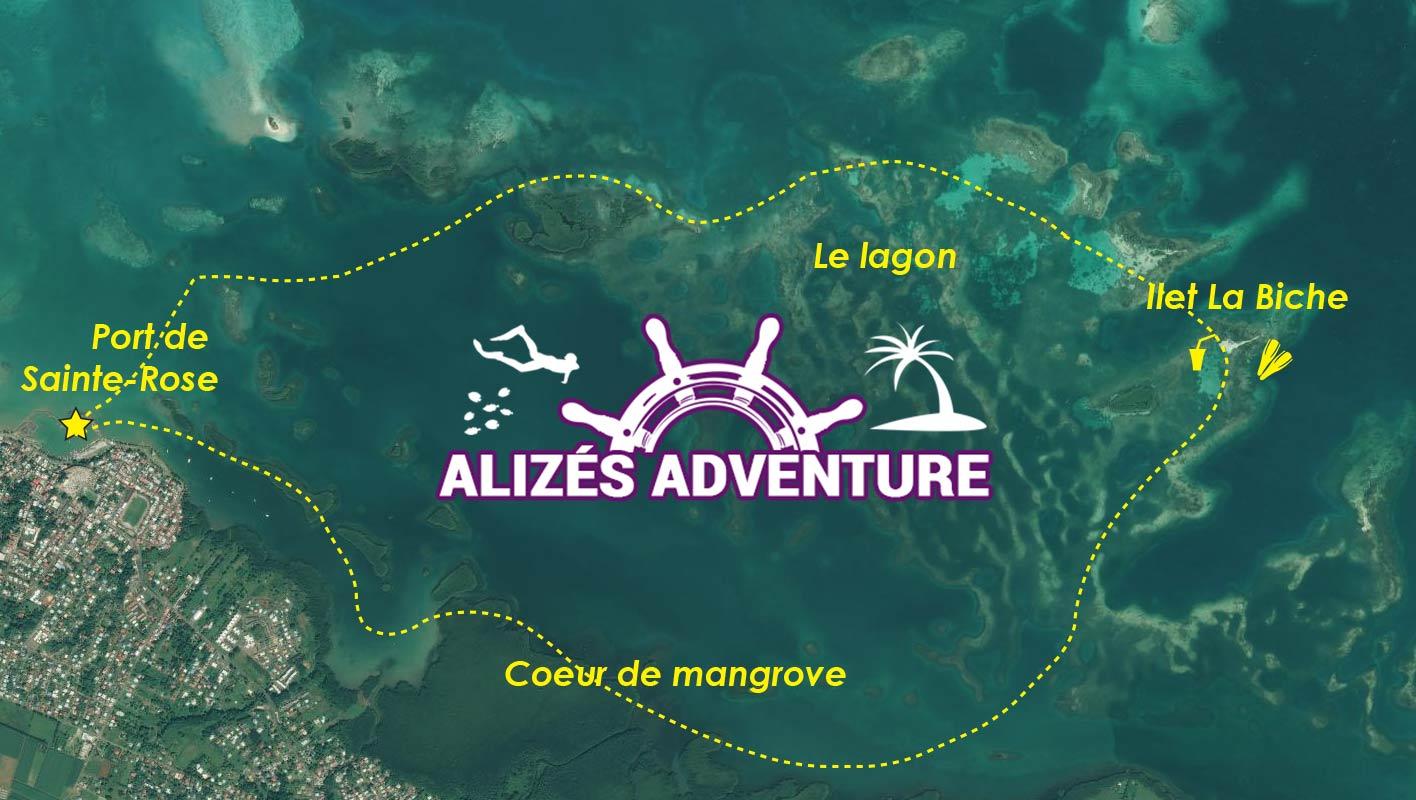 Parcours de l'excursion dans la mangrove